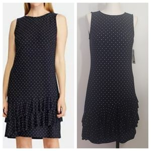 AMERICAN LIVING polkadot tiered ruffle dress sz 4
